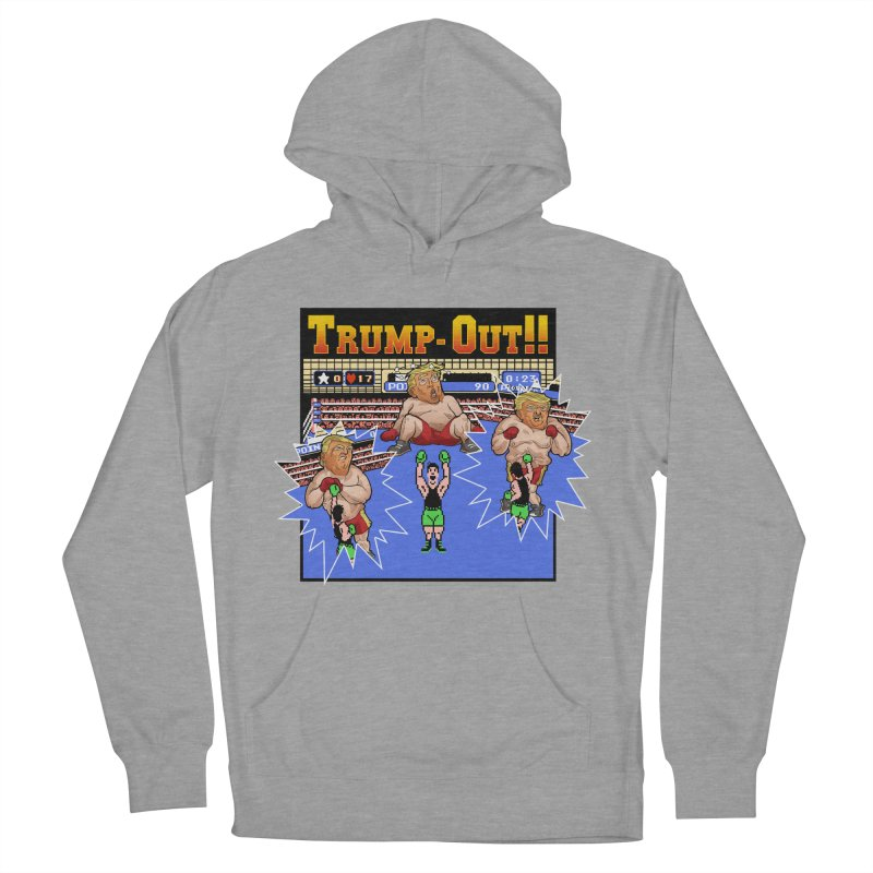 Trump-Out!! Men's French Terry Pullover Hoody by Marty's Artist Shop