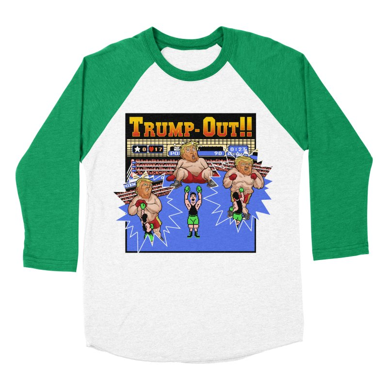 Trump-Out!! Women's Baseball Triblend Longsleeve T-Shirt by Marty's Artist Shop