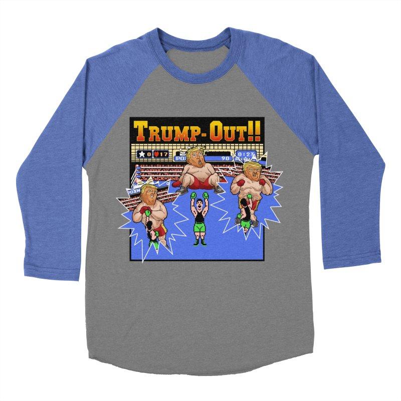 Trump-Out!! Women's Baseball Triblend T-Shirt by Marty's Artist Shop