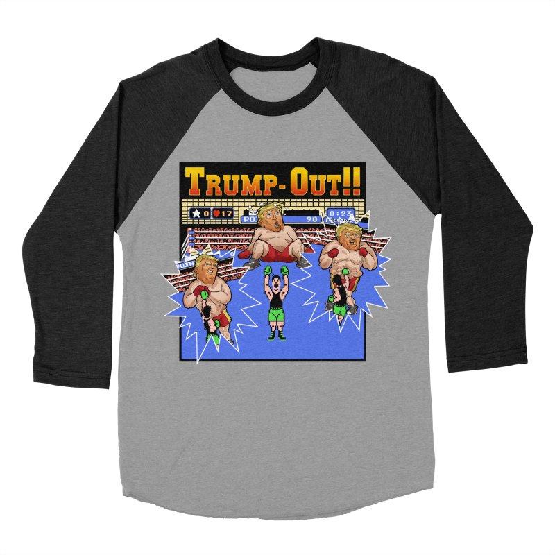 Trump-Out!! Women's Baseball Triblend Longsleeve T-Shirt by Marty's Artist Shop