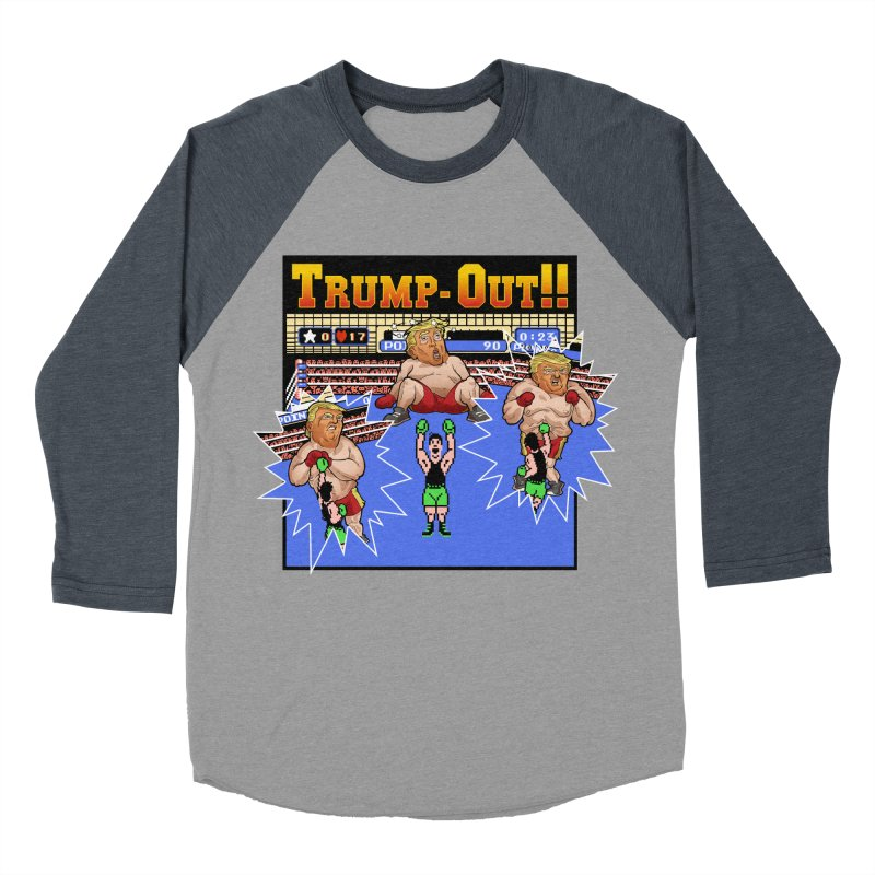 Trump-Out!! Men's Baseball Triblend Longsleeve T-Shirt by Marty's Artist Shop