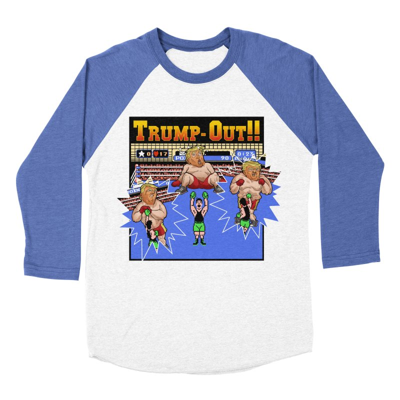 Trump-Out!! Men's Baseball Triblend T-Shirt by Marty's Artist Shop