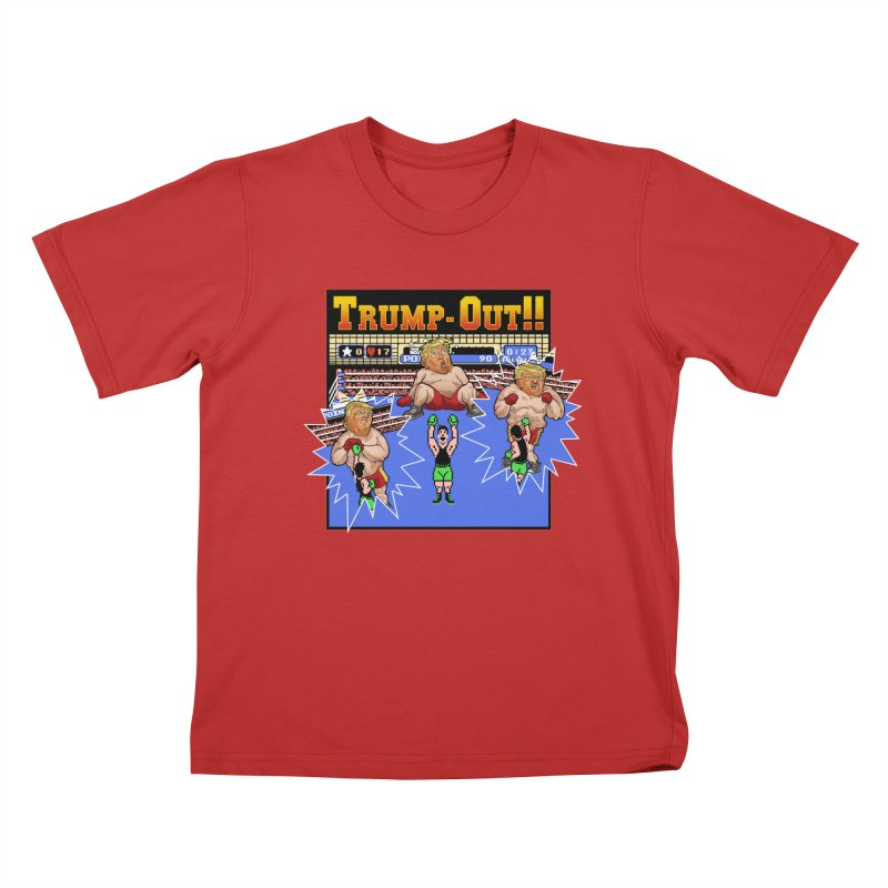 Trump-Out!! Kids T-Shirt by Marty's Artist Shop