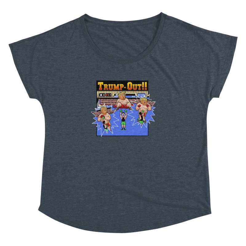 Trump-Out!! Women's Dolman Scoop Neck by Marty's Artist Shop