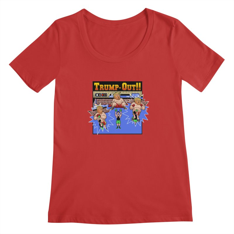 Trump-Out!! Women's Scoopneck by Marty's Artist Shop