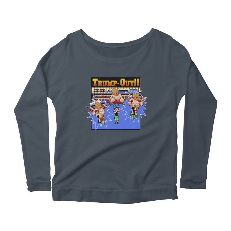 Trump-Out!! Women's Longsleeve Scoopneck  by Marty's Artist Shop