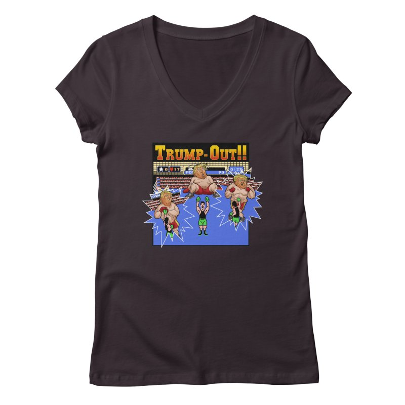 Trump-Out!! Women's V-Neck by Marty's Artist Shop