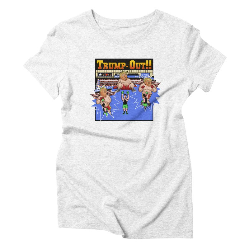 Trump-Out!! Women's Triblend T-shirt by Marty's Artist Shop