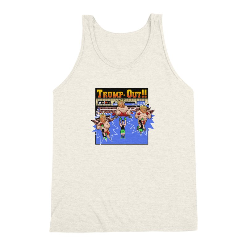 Trump-Out!! Men's Triblend Tank by Marty's Artist Shop