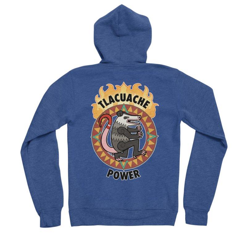 Tlacuache Power Men's Sponge Fleece Zip-Up Hoody by Marty's Artist Shop