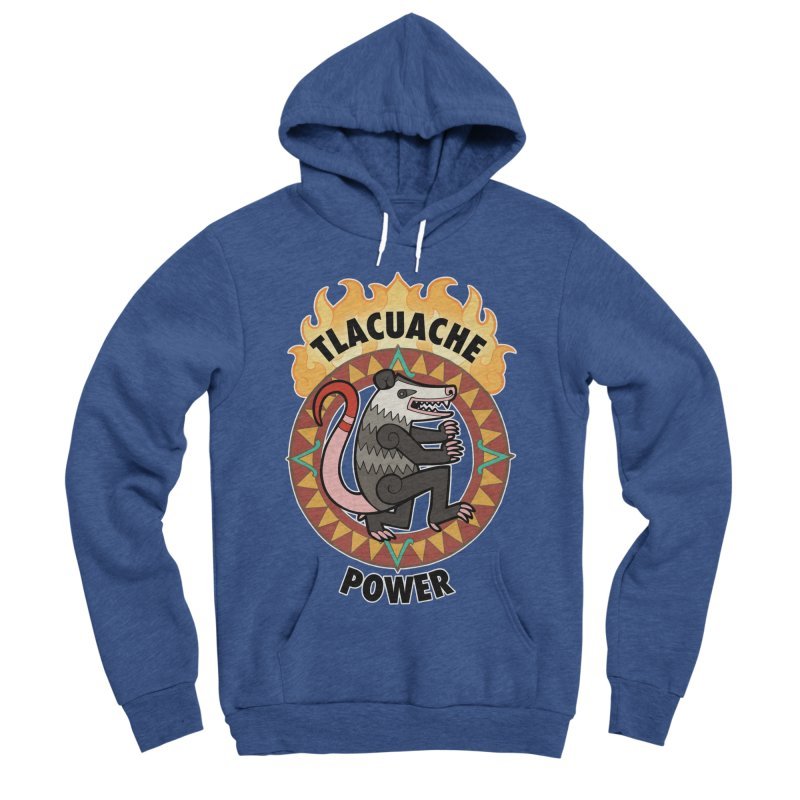Tlacuache Power Men's Sponge Fleece Pullover Hoody by Marty's Artist Shop