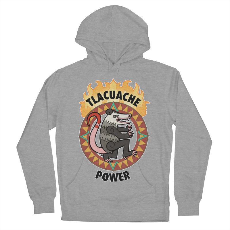 Tlacuache Power Women's French Terry Pullover Hoody by Marty's Artist Shop