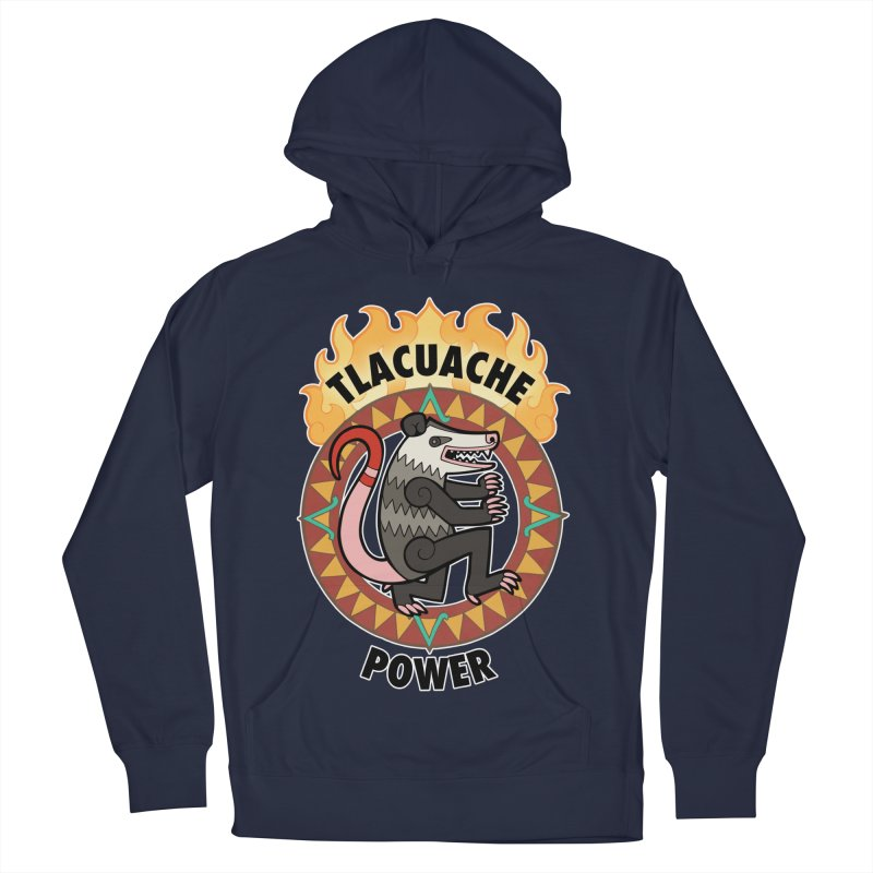 Tlacuache Power Men's French Terry Pullover Hoody by Marty's Artist Shop