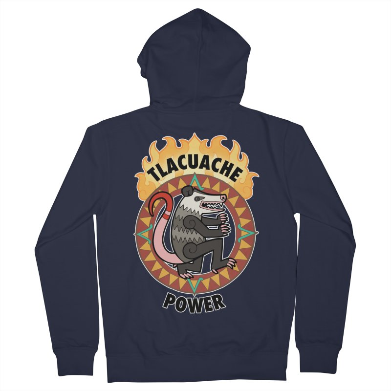 Tlacuache Power Women's Zip-Up Hoody by Marty's Artist Shop