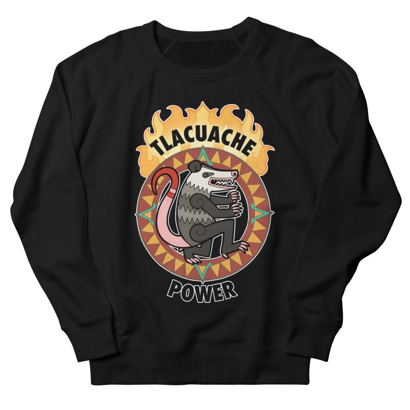 Tlacuache Power Women's French Terry Sweatshirt by Marty's Artist Shop