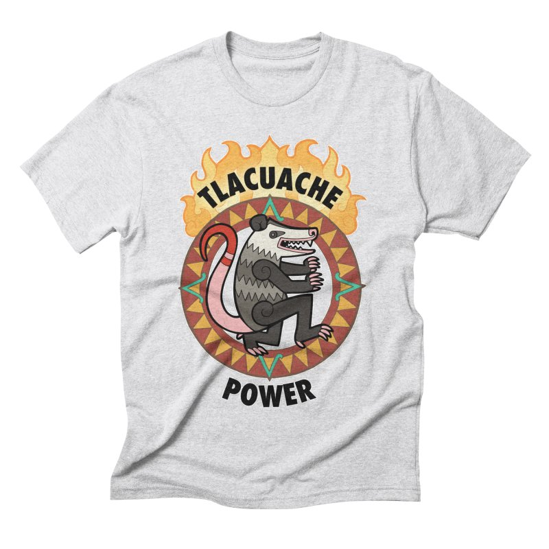 Tlacuache Power Men's Triblend T-Shirt by Marty's Artist Shop