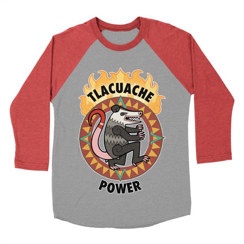 Tlacuache Power Men's Baseball Triblend Longsleeve T-Shirt by Marty's Artist Shop