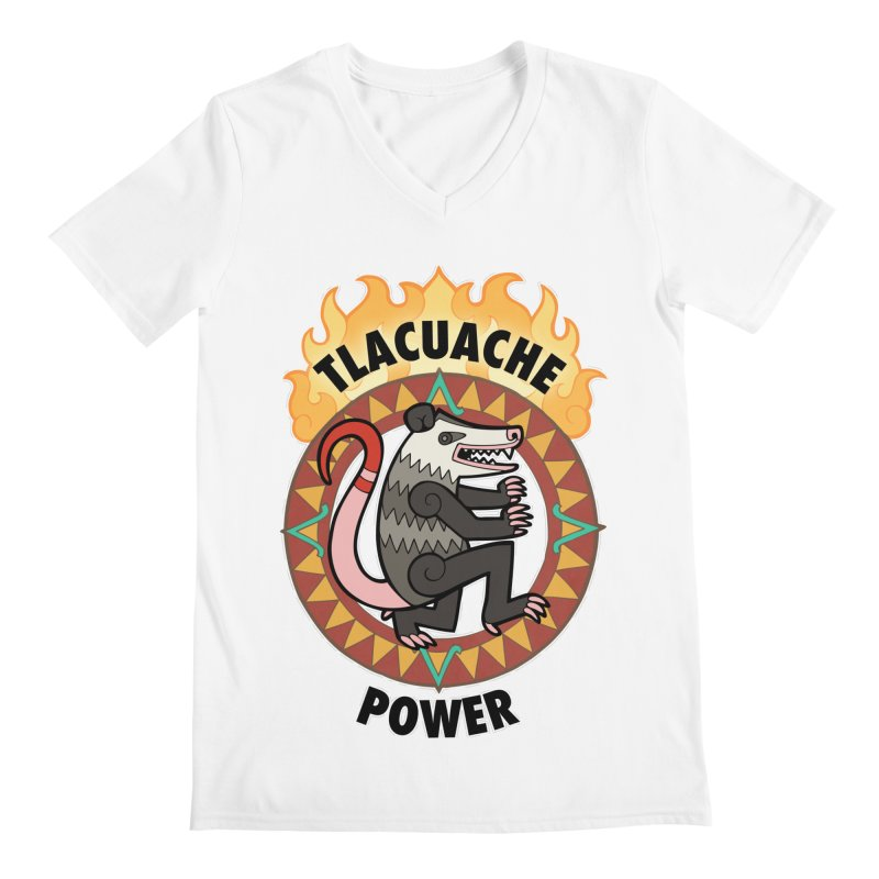 Tlacuache Power Men's V-Neck by Marty's Artist Shop
