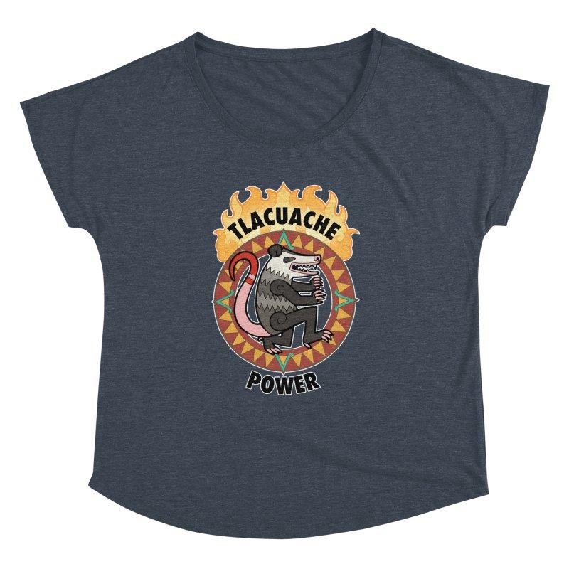 Tlacuache Power Women's Dolman Scoop Neck by Marty's Artist Shop