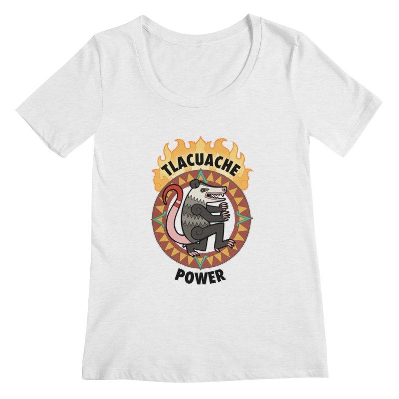 Tlacuache Power Women's Regular Scoop Neck by Marty's Artist Shop
