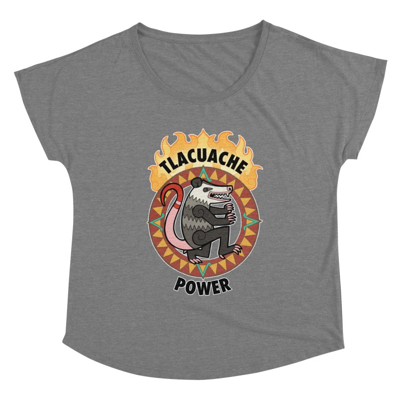 Tlacuache Power Women's Scoop Neck by Marty's Artist Shop