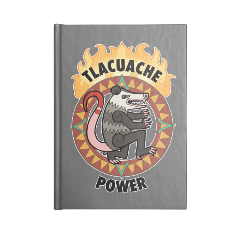 Tlacuache Power Accessories Lined Journal Notebook by Marty's Artist Shop
