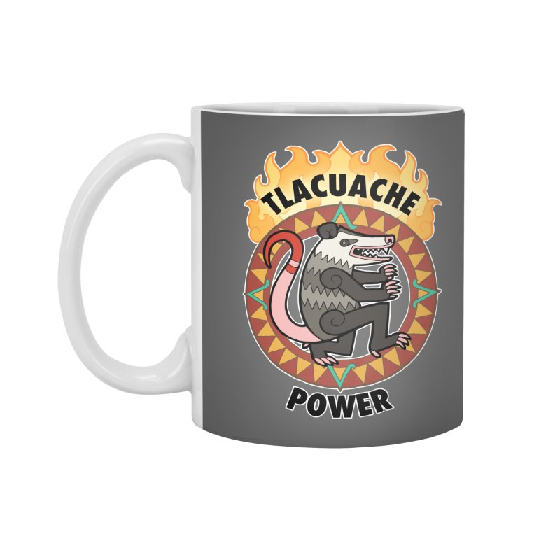 Tlacuache Power Accessories Standard Mug by Marty's Artist Shop