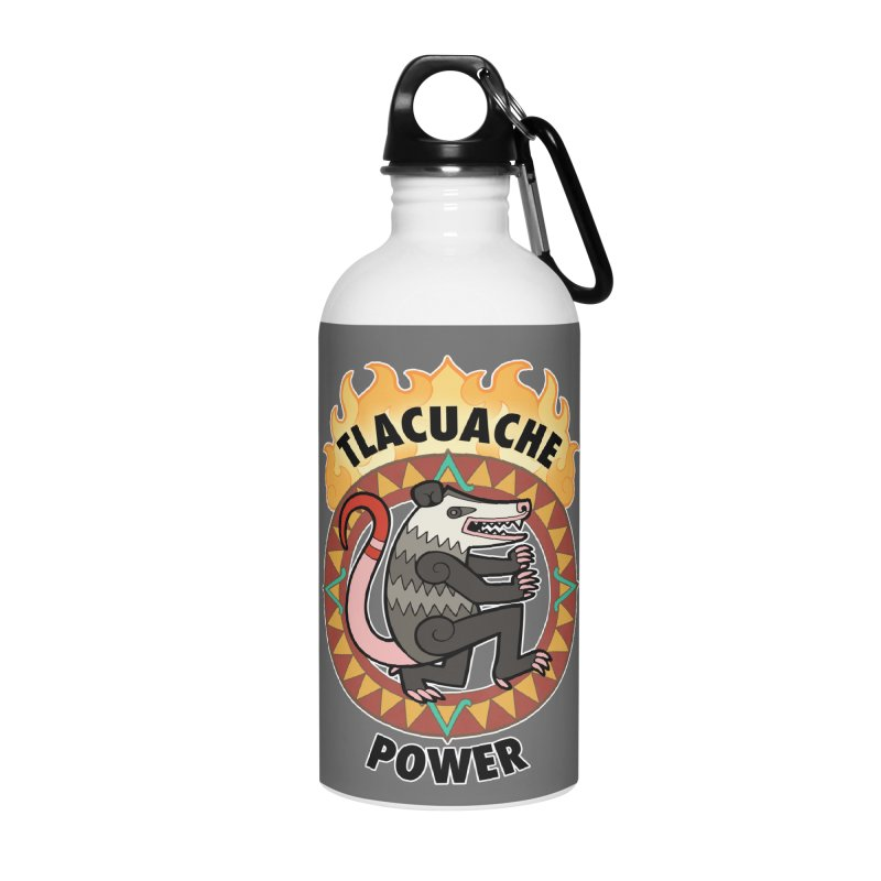 Tlacuache Power Accessories Water Bottle by Marty's Artist Shop