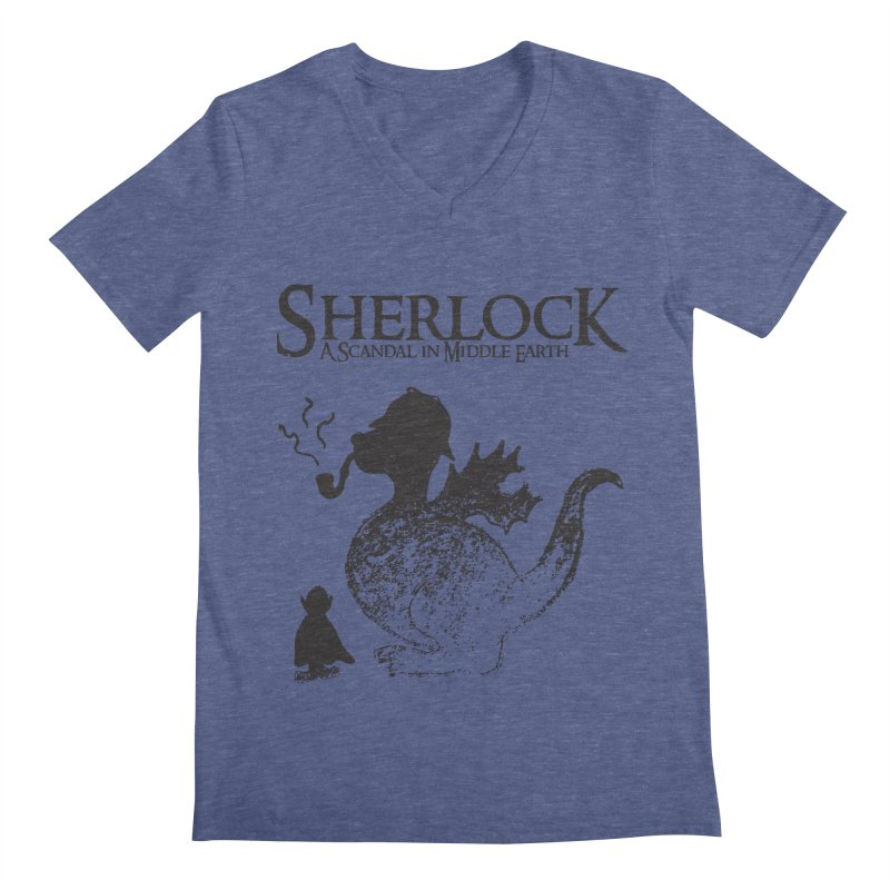 Sherlock: A Scandal in Middle-earth Men's V-Neck by marv42's Artist Shop