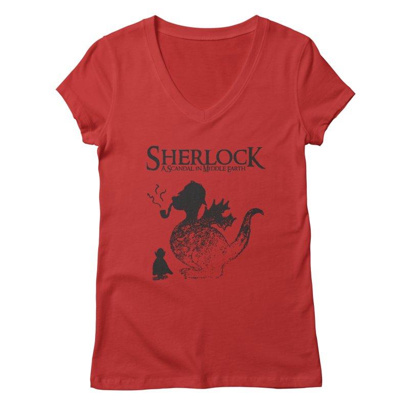 Sherlock: A Scandal in Middle-earth Women's V-Neck by marv42's Artist Shop