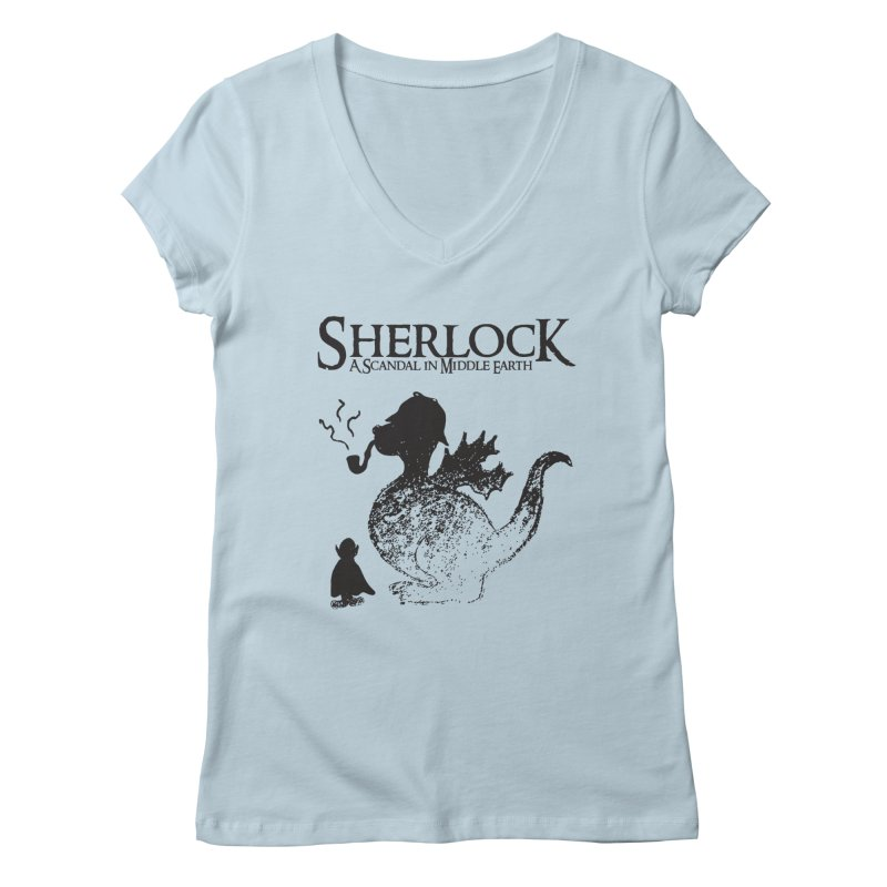 Sherlock: A Scandal in Middle-earth Women's V-Neck by marv42's Artist Shop