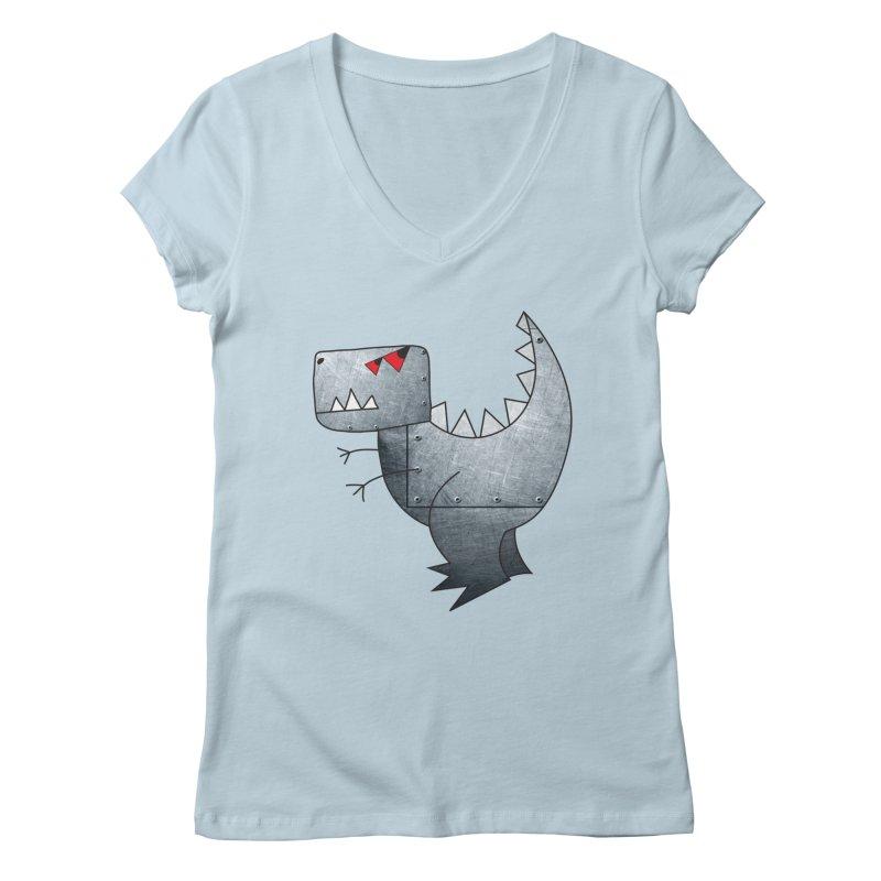 Dinobot Women's V-Neck by marv42's Artist Shop