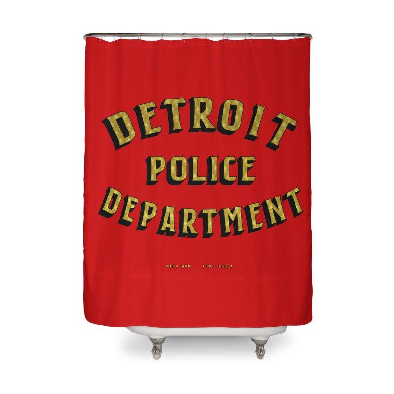 Detroit Fir Police Department Fire Water Home Shower Curtain