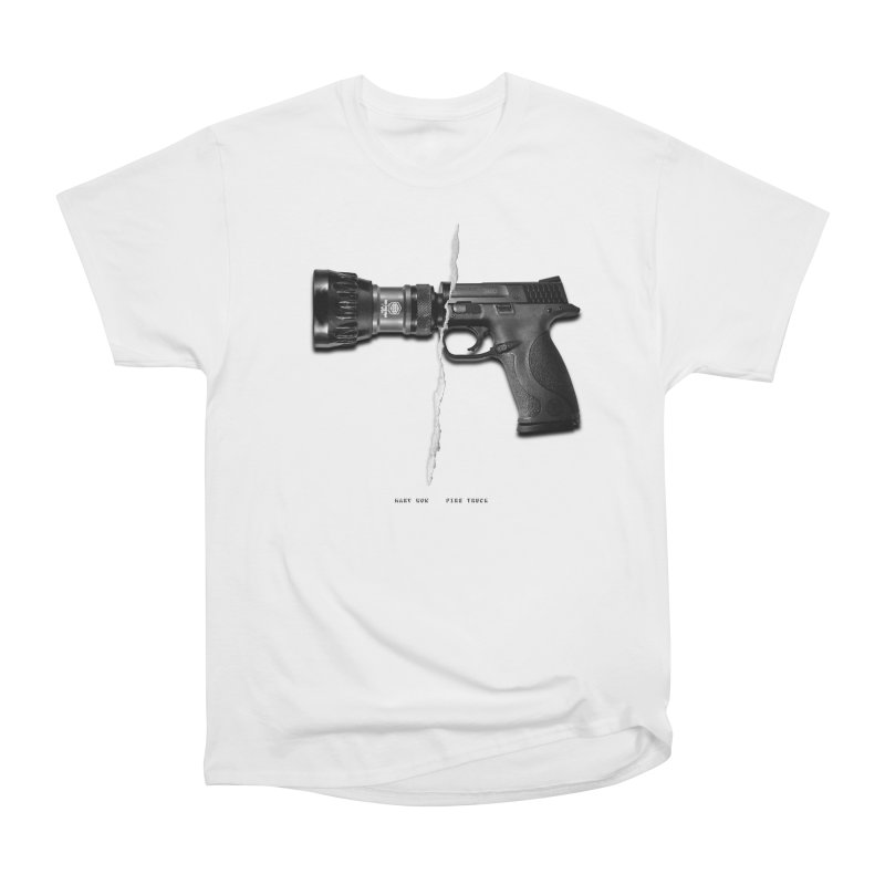 Water / Fire in Men's Heavyweight T-Shirt White by Marv Won