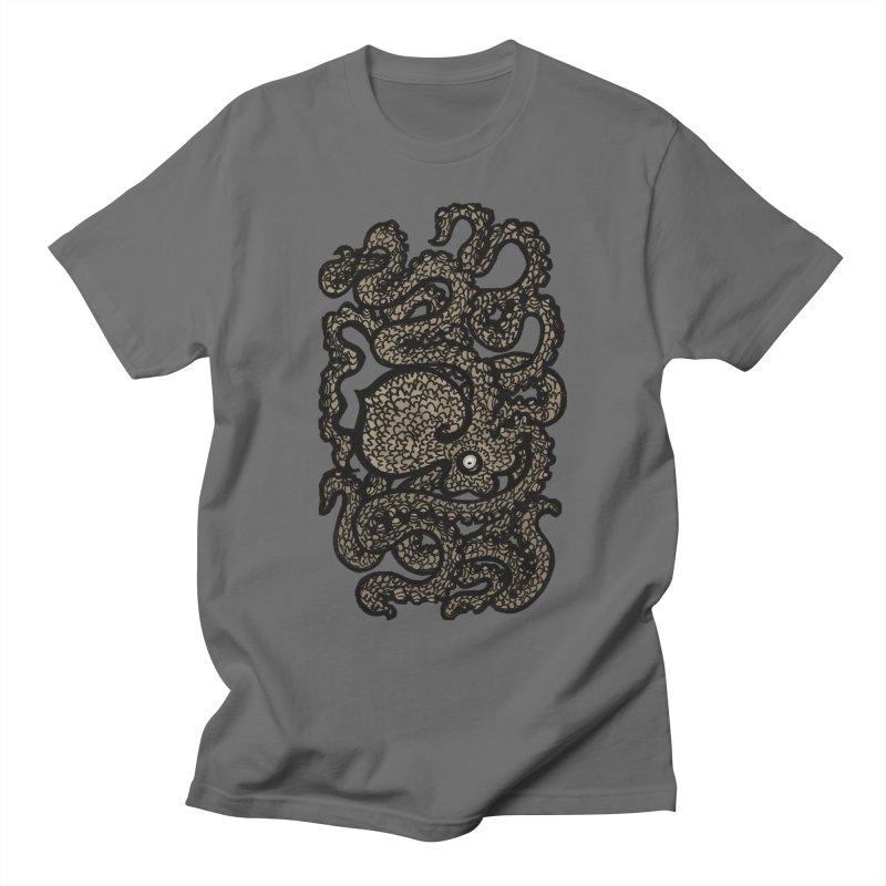 Henry the Happy Octopus (sepia) Men's T-Shirt by maryannartdotcom's Artist Shop