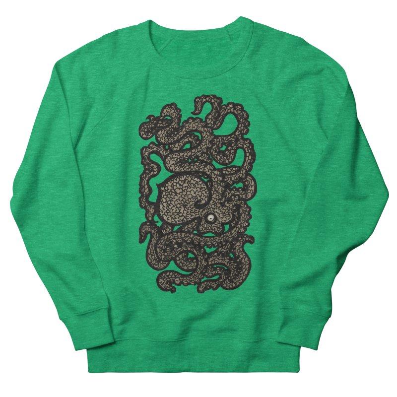 Henry the Happy Octopus (sepia) Women's Sweatshirt by maryannartdotcom's Artist Shop