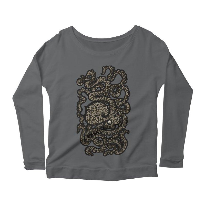 Henry the Happy Octopus (sepia) Women's Longsleeve T-Shirt by maryannartdotcom's Artist Shop