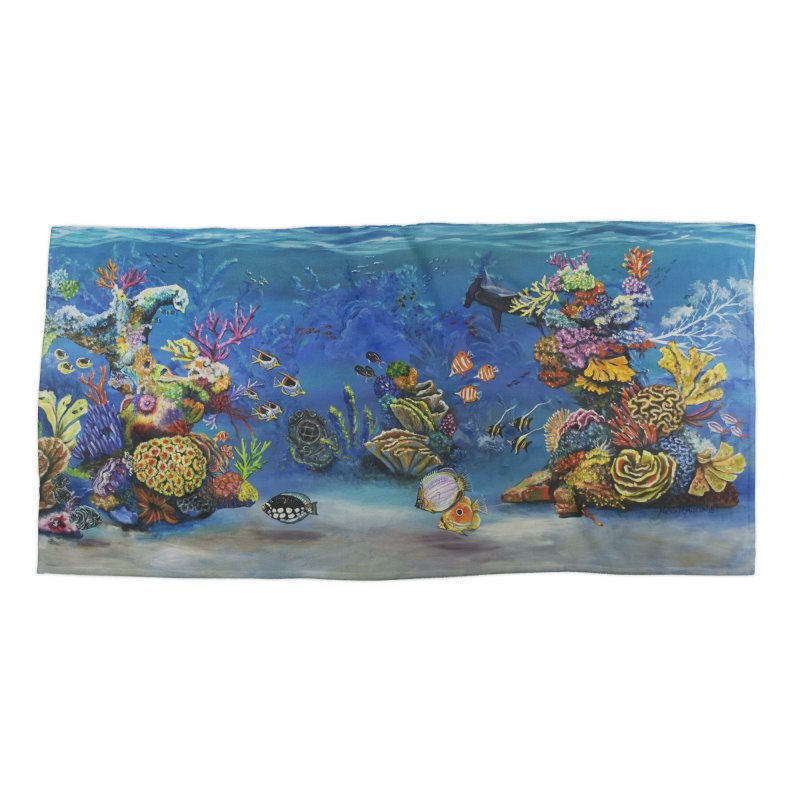 Coral Reef Accessories Beach Towel by maryannartdotcom's Artist Shop