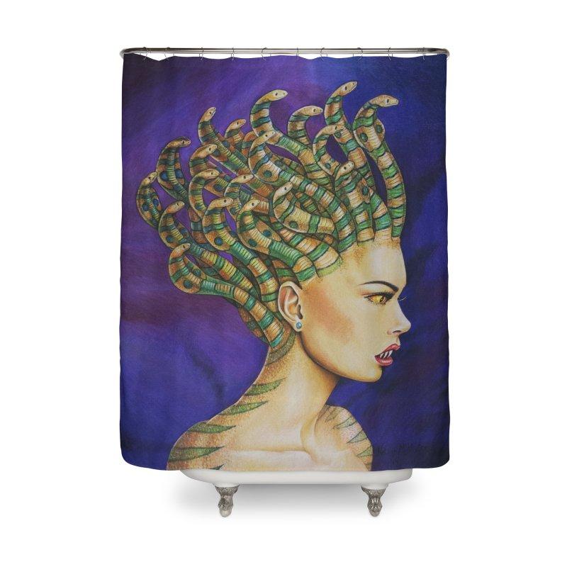Medusa the Queen Home Shower Curtain by maryannartdotcom's Artist Shop