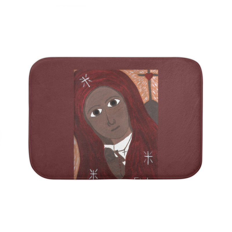 Blessed Mother and Child -African Home Bath Mat by Mary Kloska Fiat's Artist Shop
