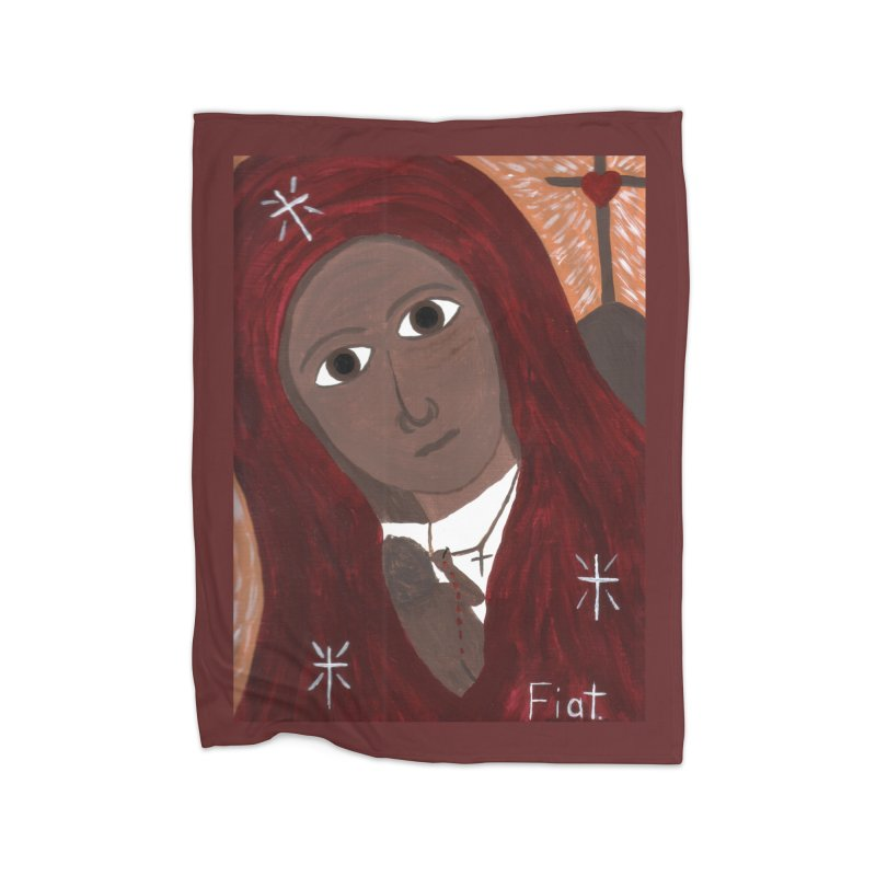Blessed Mother and Child -African Home Blanket by Mary Kloska Fiat's Artist Shop