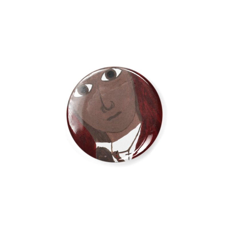 Blessed Mother and Child -African Accessories Button by Mary Kloska Fiat's Artist Shop