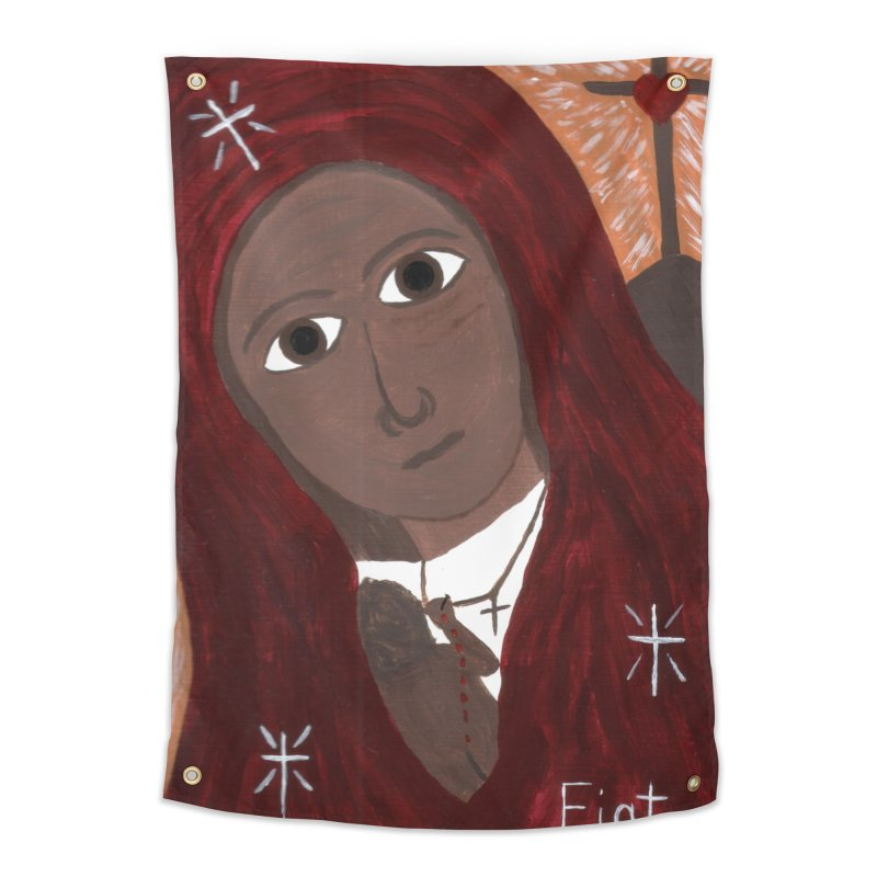 Blessed Mother and Child -African Home Tapestry by Mary Kloska Fiat's Artist Shop