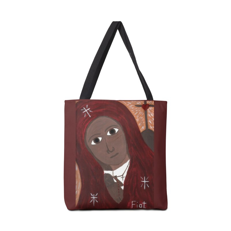 Blessed Mother and Child -African Accessories Bag by Mary Kloska Fiat's Artist Shop