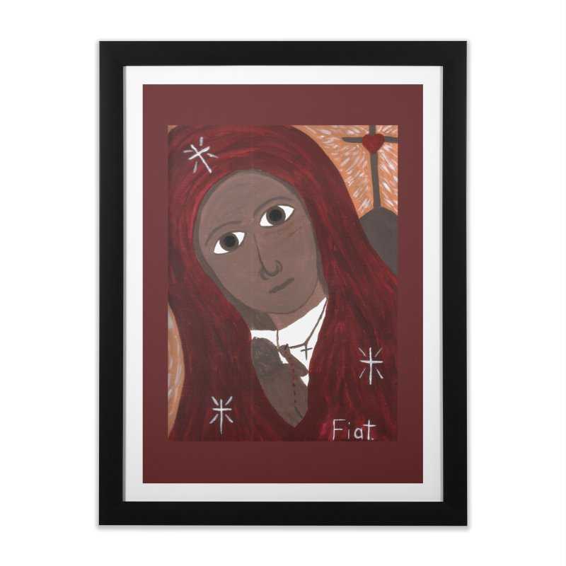 Blessed Mother and Child -African Home Framed Fine Art Print by Mary Kloska Fiat's Artist Shop