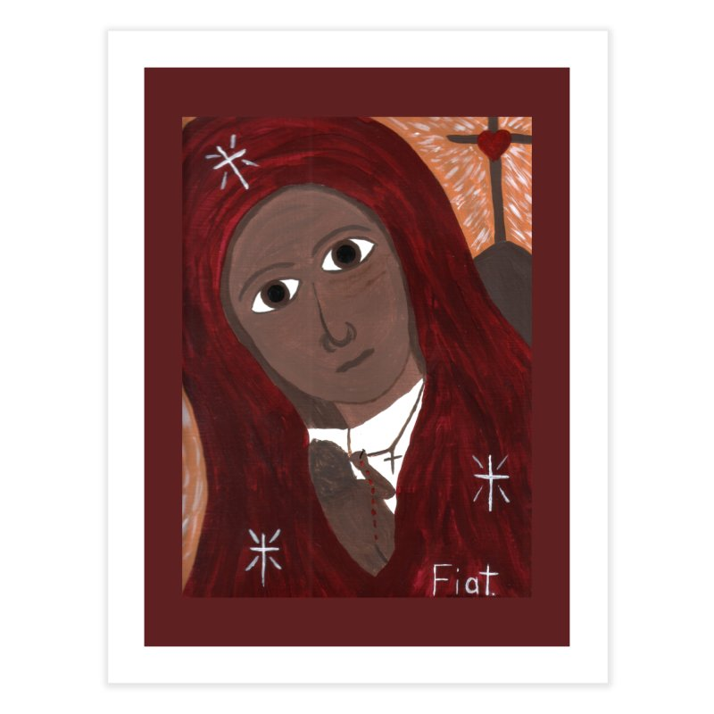 Blessed Mother and Child -African Home Fine Art Print by Mary Kloska Fiat's Artist Shop