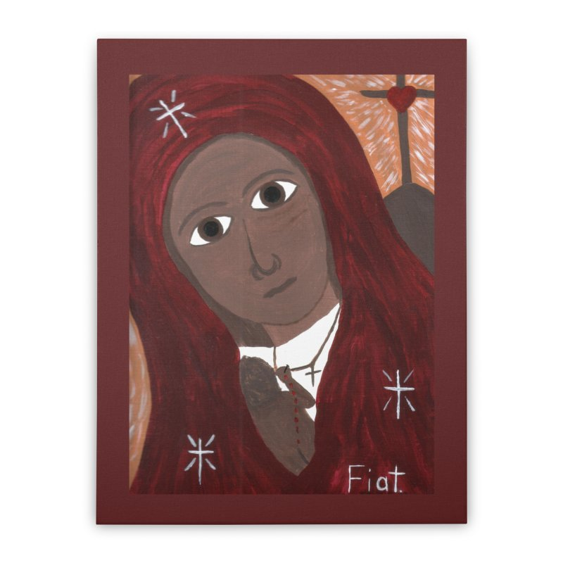 Blessed Mother and Child -African Home Stretched Canvas by Mary Kloska Fiat's Artist Shop