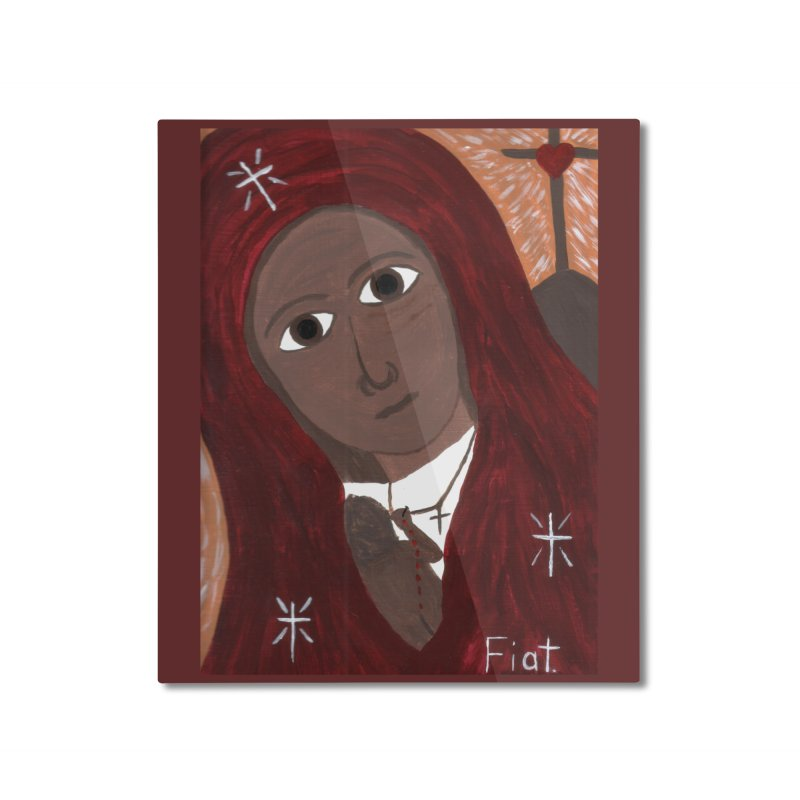 Blessed Mother and Child -African Home Mounted Aluminum Print by Mary Kloska Fiat's Artist Shop