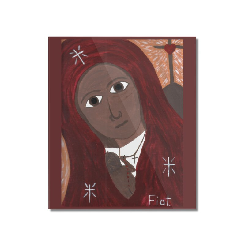 Blessed Mother and Child -African Home Mounted Acrylic Print by Mary Kloska Fiat's Artist Shop