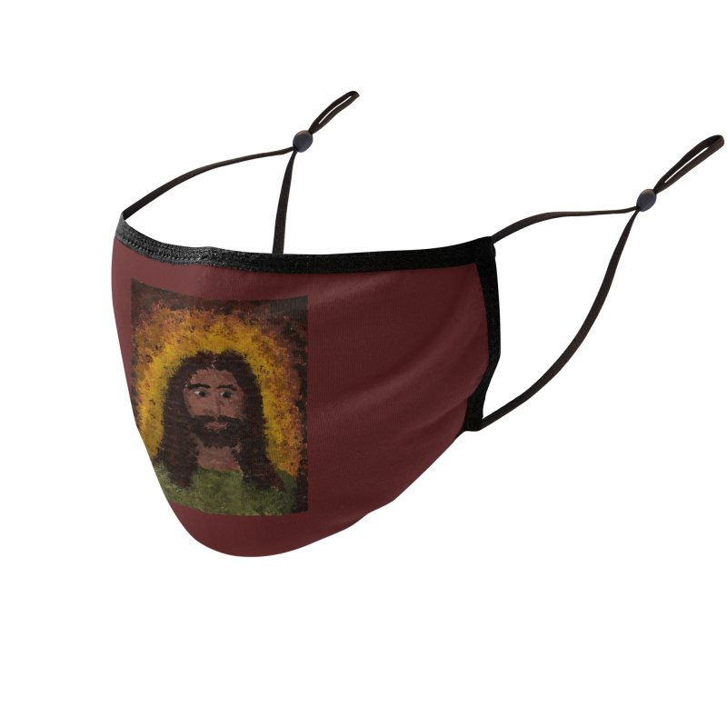Jesus Accessories Face Mask by Mary Kloska Fiat's Artist Shop